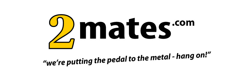 Logo for the 2 Mates website